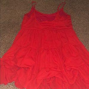 Red Ruffle Summer Dress